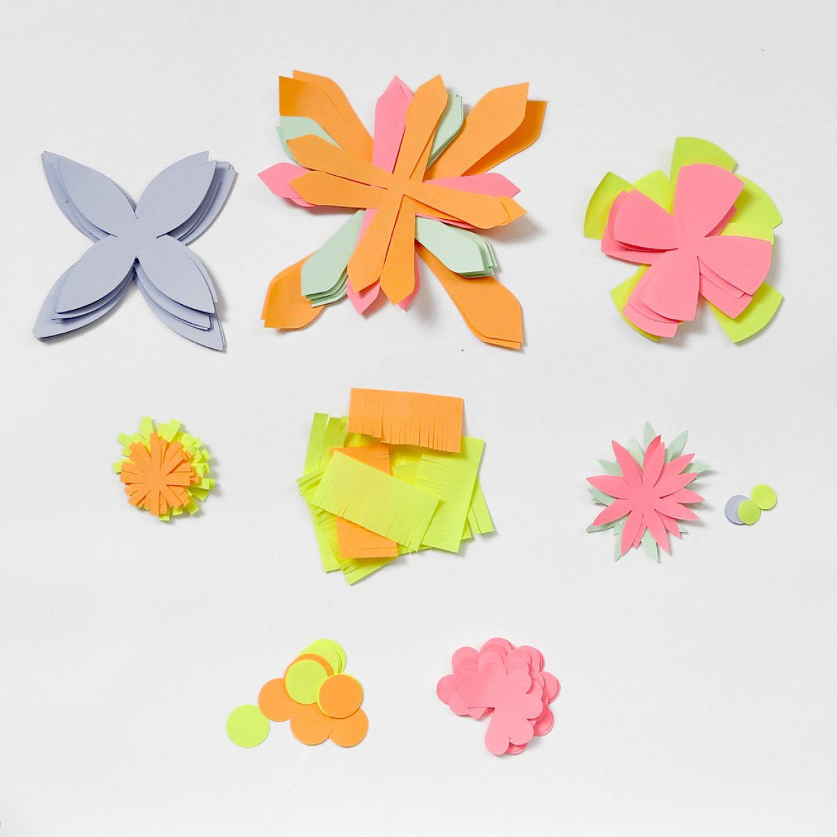 2 - CUT OUT AND SORT FLOWER COMPONENTS