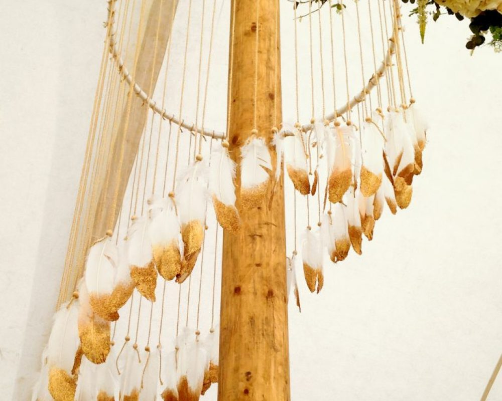 gold-dipped-feather-chandelier