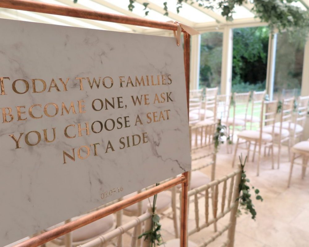 marble-and-copper-wedding-ceremony-sign