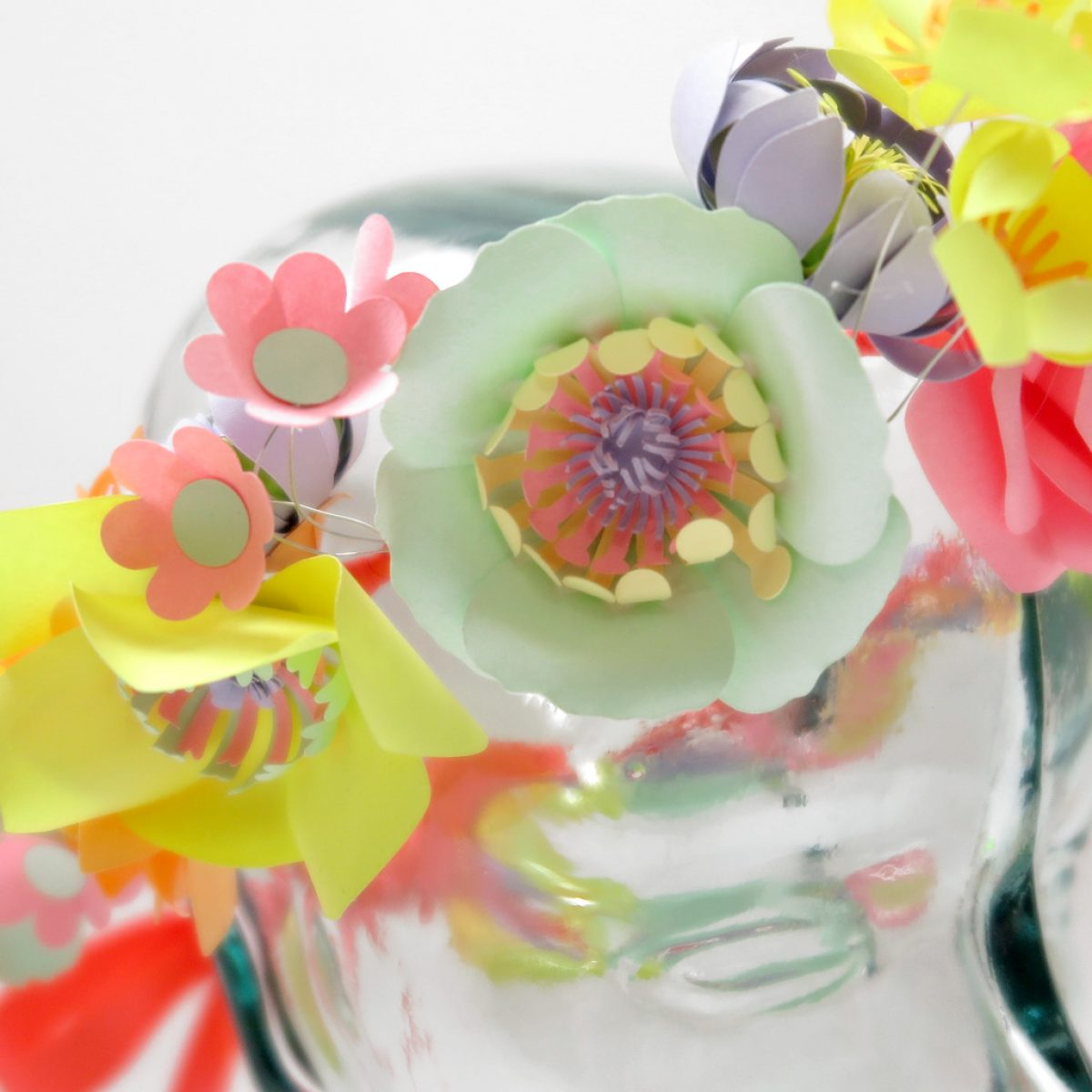 neon-paper-flower-crown- 5