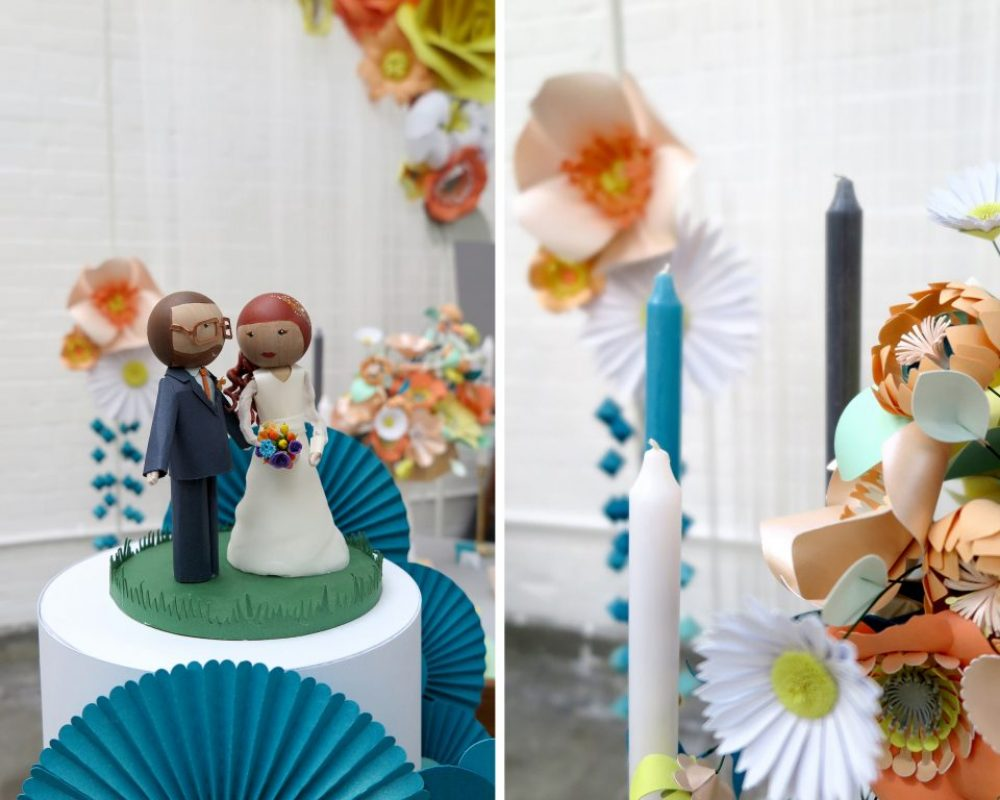 peg-doll-cake-topper-and-paper-flowers