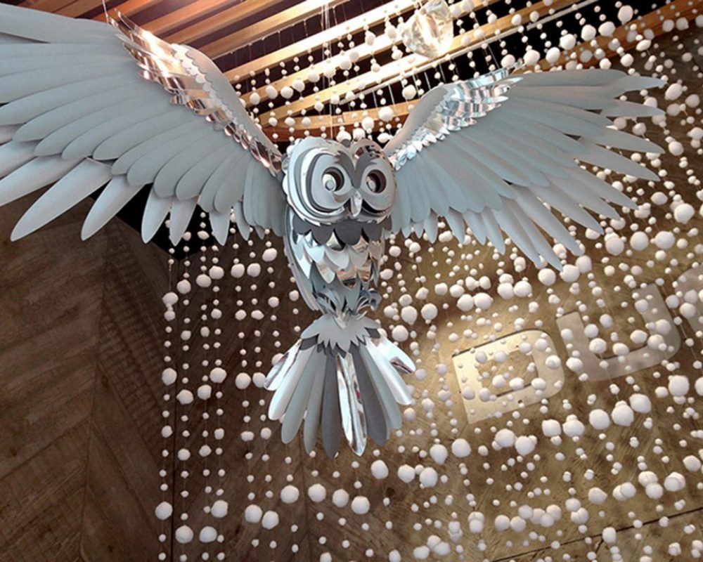 silver-christmas-paper-owl